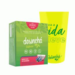 Combo Desinchá Sabores (30 sachês) + Copo Cristal Desinchá