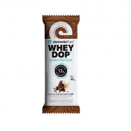 Barra Proteica Chocolate Maltado Wheydop Elemento Puro 40g